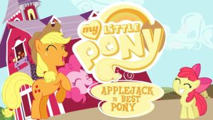 Wallpaper Applejack is best pony by Barrfind
