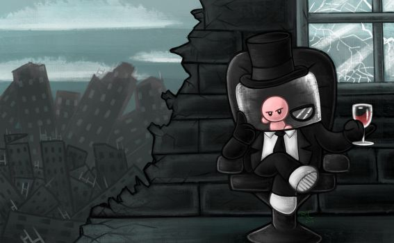 It Ends with a Whimper - Super Meat Boy by Tikara-the-Mew
