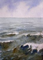 Watercolour Sea by Mad-Margaret
