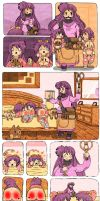 Lucky Star Comic Strip (Twin Punishment) by barky-kun