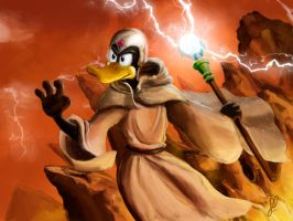 Daffy duck the wizard by Rodrigues404
