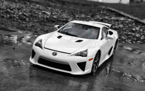Lexus LFA Black and White by FordGT
