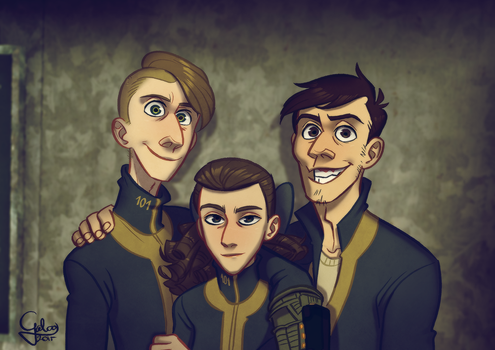 The Gombos siblings by GalooGameLady