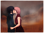 Kiss in the Mist by blackpapillon