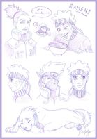 Naruto Sketches by DolphyDolphiana