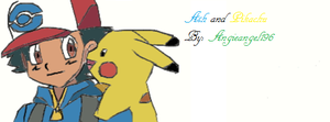 Ash and Pikachu drawing fail.. by Angieangel196