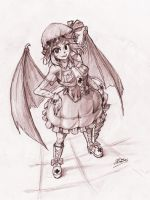 Remilia Scarlet Nurse Cosplay - BW by Dave-Shino