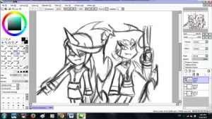 Scanty and kneesocks wip by SharinganAce