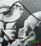SKELETON HANDS NECKLACE by TocsinDesigns