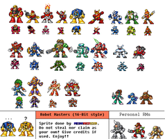 16-Bit Robot Masters by MegaRed225