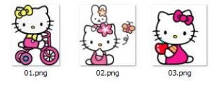 Pack de iconos Hello Kitty by larchu