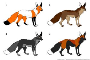 Fox adoptables 2_Closed by BrunaVosto
