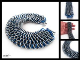 Blue Dragonscale Bracelet by coldfirecustoms