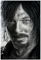 Daryl Dixon - Norman Reedus CLOSE UP by Hollow-Moon-Art