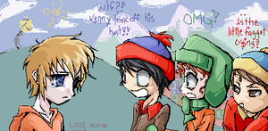 omg..Kenny Took off His Hat by LostSasami