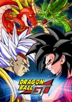 Poster Dragon Ball GT: Baby vegeta vs Goku by Dony910