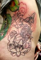 Asian flowers 1st sitting by Richroyalty