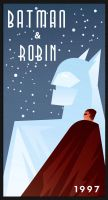 BATMAN AND ROBIN art deco by rodolforever