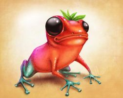Strawberry Dart Frog by dml2378
