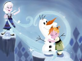 Disney Frozen: Anna and Elsa's Childhood by gissele365