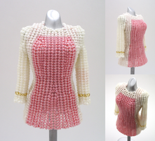 Custom: Star Trek NG+OS Bead Dress (Minus Badge) by pinkythepink