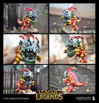 Lion Dance Kog'maw Sculpture - Final by chinggay