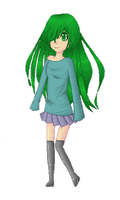 Green pixels by SillyLilAlice
