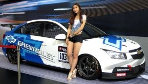 Lady With A Chevy WTCC Race Series Vehicle by toyonda