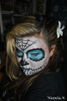 Blue sugar skull by AngelicPicture