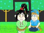 Vanellope visits Fix it Felix Jr's Game by DarkwingFan