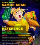 Did you get the reference? Samus Aran by Leandroyepyep