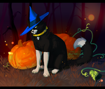 Dion Halloween kitty by puppyland25