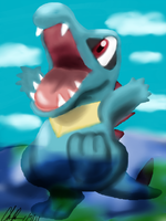 Totodile in Sai by Phatmon66