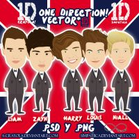 One Direction Vector .psd y .png by iCrayolaa