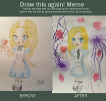 Before and After: The Alice Doll by RosaPeach