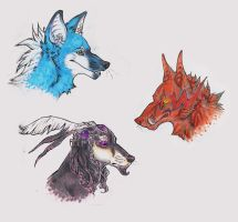 floating heads by Canis-Infernalis