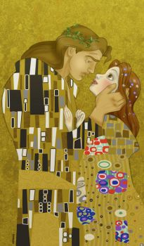 Klimt's Beauty and the Beast by Francy035b