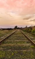 Train Tracks and Painted Skies by StudioCreo
