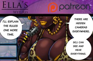 Ella's Wet Ass comic sample by Osmar-Shotgun