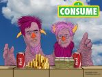 2 Headed Monster-Koch Bros CONSUME by HalHefnerART