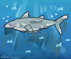 Jaws theme plays ominously in the background by Palindromee