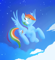 Rainbow Dash's Space Mission by DaPuddingz