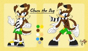 Choco the Dog Reference by AR-ameth