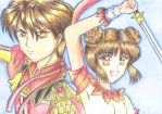 Fushigi Yuugi: Miaka and Tamahome by spogunasya