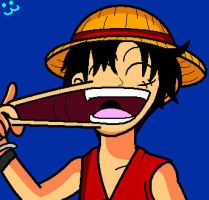 Luffy is a Rubber Man by conkeronine