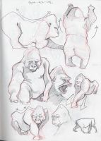 More Gorillas by ronaika