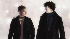 Sherlock and John (color) by AzurLazuly