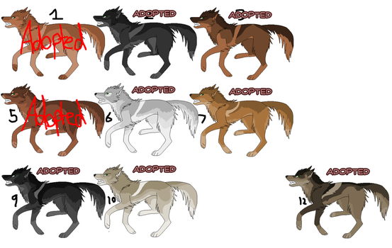Wolf Adoptables 15 [CLOSED] by PleaseAdoptUs