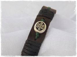Celtic Leather Bracelet by ChrisOnly