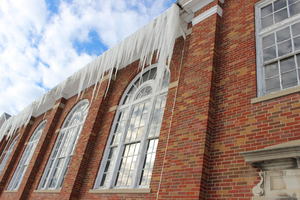 Icicles on an Old School by Toderico